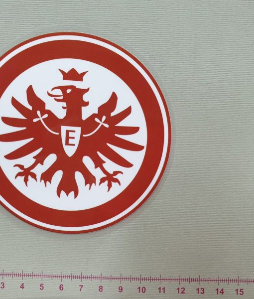 Termoaplikacija Eintracht Frankfurt futbolo komandos logotipas, maža