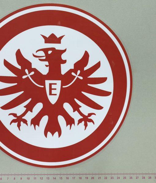 Termoaplikacija Eintracht Frankfurt futbolo komandos logotipas, didelė