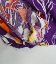 Viskozinis trikotažas Violetiniai raštai