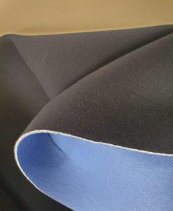 Medvilninis dvispalvis neoprenas Tamsiai mėlynas-ryškiai mėlynas
