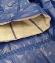 Dygsniuotas vienpusis striukinis audinys Ryškiai mėlynas