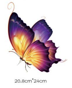Termoaplikacija violetinis drugelis, didelis