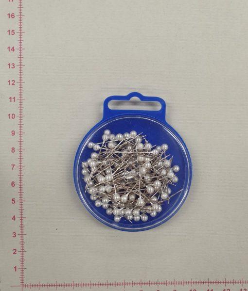 Smeigtukai su baltom galvutėm 0,60 X 34 mm