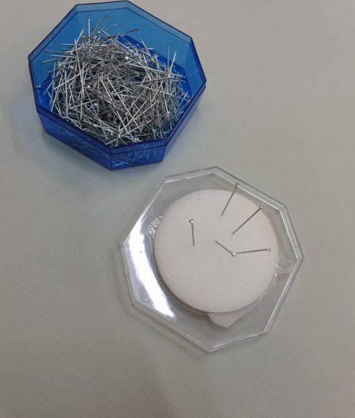 Smeigtukai su plokščia galvute, 25 mm + adatinė