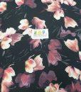 Faktūrinis / Dygsniuotas neoprenas Rausvos gėlės