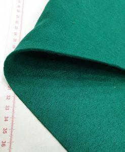 Dirbtinio veltinio (filco) lakštas, tamsiai žalias