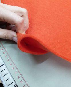 Dirbtinio veltinio (filco) lakštas, oranžinis