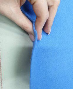 Dirbtinio veltinio (filco) lakštas, džinso mėlynumo
