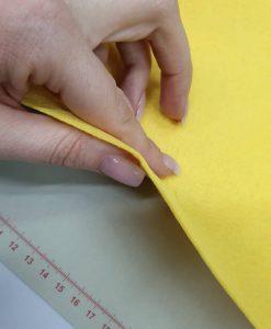 Dirbtinio veltinio (filco) lakštas, geltonas