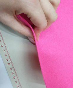 Dirbtinio veltinio (filco) lakštas, rožinis