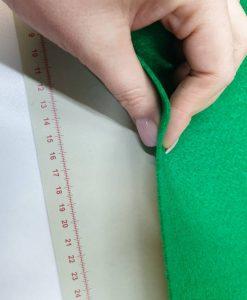 Dirbtinio veltinio (filco) lakštas, žalias