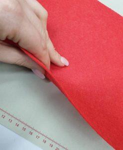 Dirbtinio veltinio (filco) lakštas, raudonas