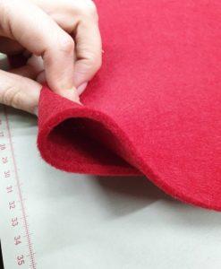 Dirbtinio veltinio (filco) lakštas, tamsiai raudonas