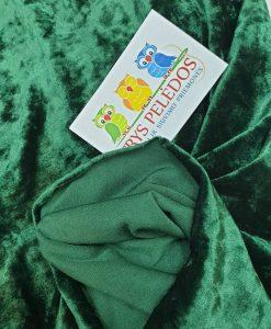 Sintetinis glamžytas veliūras Žalias