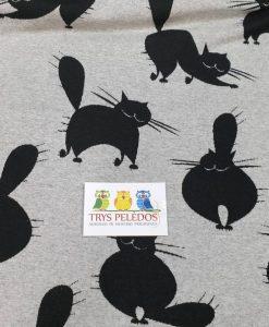 Žakardas Pilki katinai