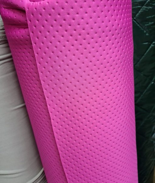 Faktūrinis / Dygsniuotas neoprenas Ryškiai rožinis