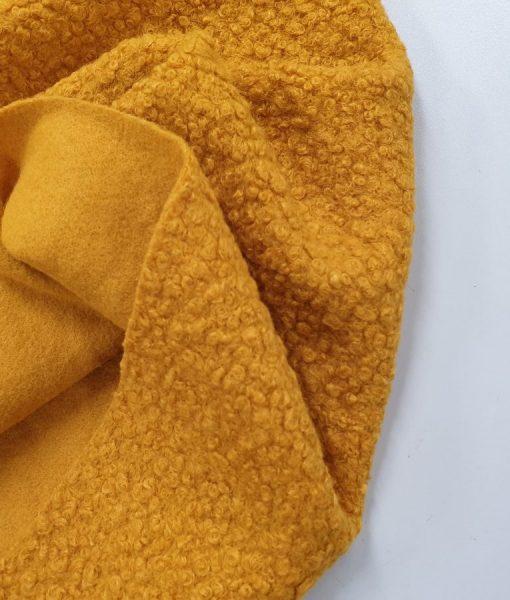 Megzta bukle tipo pusvilnė, garstyčių geltona