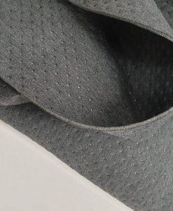 Faktūrinis / Dygsniuotas medvilninis neoprenas Tamsiai pilkas
