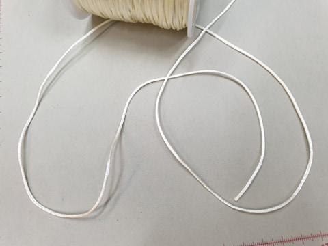 Satino virvelė Pieno baltumo, 1,5 mm