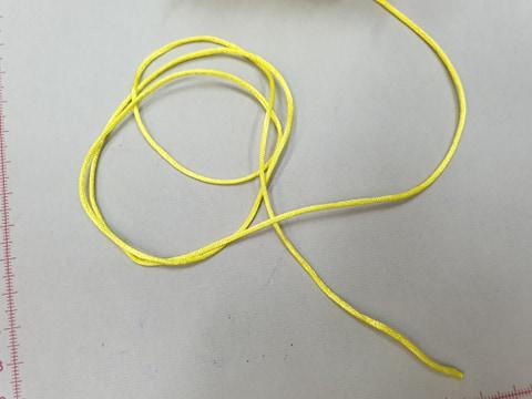 Satino virvelė Geltona, 1,5 mm