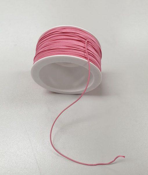 Apvali elastinė guma 1,2 mm, Rožinė