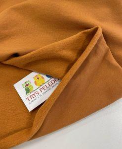 Pašiltintas, nestoras elastingas trikotažas Garstyčių ruda