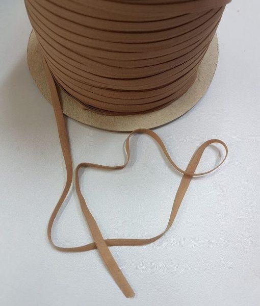 Minkšta plona guma 5 mm, šviesiai ruda, 10 m