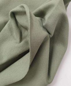 Pašiltintas, nestoras elastingas trikotažas Šviesus chaki