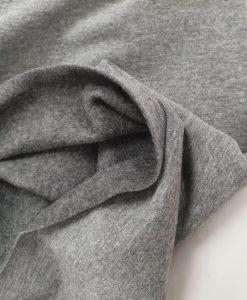 Pašiltintas, nestoras elastingas trikotažas Pilkas