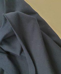 Pašiltintas, nestoras elastingas trikotažas Tamsiai mėlynas