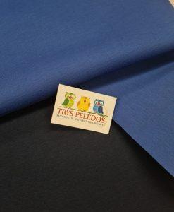 Medvilninis dvispalvis neoprenas Tamsiai mėlynas - ryškiai mėlynas