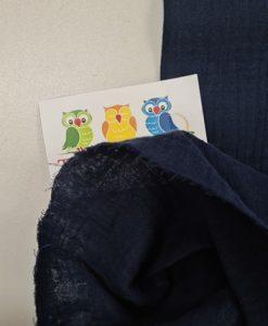 Medvilninis double gauze muslinas Tamsiai mėlyna