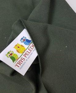 Pašiltintas, storas trikotažas Chaki
