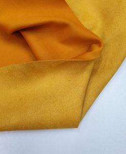 Zomšo imitacijos trikotažas Geltonas