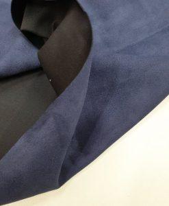Zomšo imitacijos trikotažas Tamsiai mėlynas