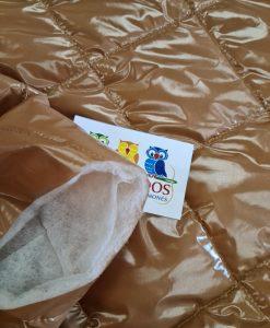 Dygsniuotas rombais vienpusis striukinis audinys Camel latex