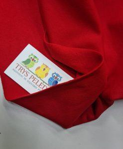 Pašiltintas, nestoras elastingas trikotažas Raudonas