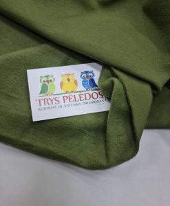 Pašiltintas, nestoras elastingas trikotažas Ryškus chaki