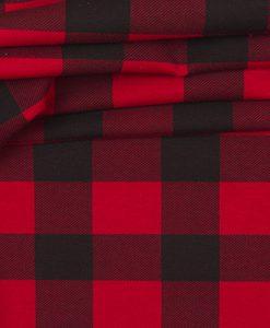 Kilpinis, skaitmeninės spaudos trikotažas Raudonas languotas