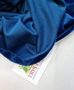 Soft veliūras Elektrinis mėlynas