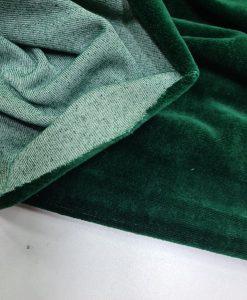 Medvilninis veliūras Smaragdinis