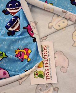 Plonas, skaitmeninės spaudos trikotažas Baby shark