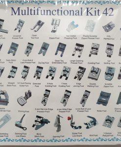 Pėdelių buitinei siuvimo mašinai rinkinys, 42 dalys