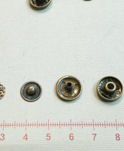 Įpresuojamos 12,5 mm (633) spaudės, 10 vnt. bronza
