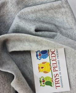 Pašiltintas, nestoras elastingas trikotažas Šviesiai pilkas melanžas