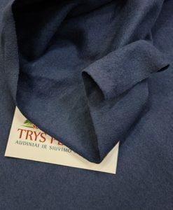 Pašiltintas, nestoras elastingas trikotažas Mėlynas