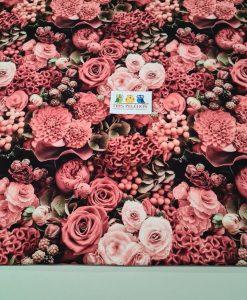 Kilpinis, skaitmeninės spaudos trikotažas Ryškios rožės
