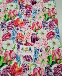 Kilpinis, skaitmeninės spaudos trikotažas Pavasario gėlės