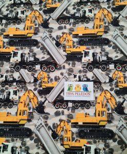 Kilpinis, skaitmeninės spaudos trikotažas Ekskavatoriai ir sunkvežimiai