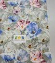 Kilpinis, skaitmeninės spaudos trikotažas Gėlės pilkame fone